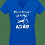 Pour sauver le Ring T-shirt Col V Femme 180 gr