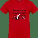 Pour le Ring : Tous unis pour la défense du Ring T-shirt  Homme 180g