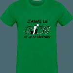 Pour le Ring : J'aime le Ring et je le défends T-shirt  Homme 180g