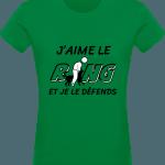 Pour le Ring : J'aime le Ring je le défends T-shirt Femme 180g