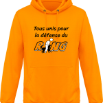 Pour le Ring : Tous unis pour la défense du Ring Sweat Shirt à Capuche Homme