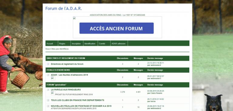 Ancien forum ADAR